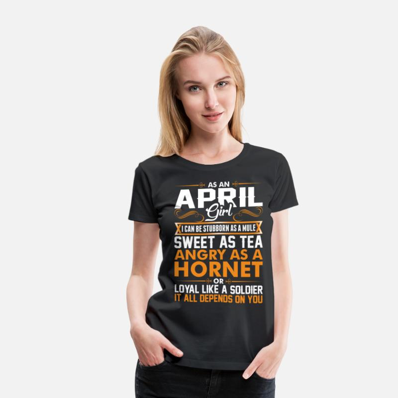 April T-Shirts - April Girl Sweet As Tea - Women's Premium T-Shirt black