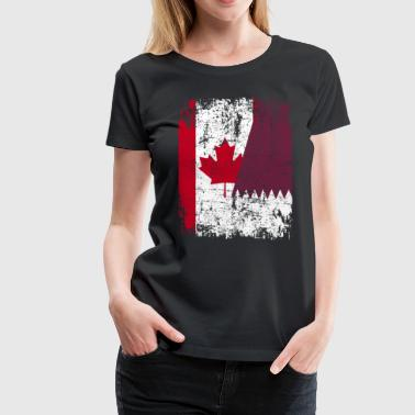 Canadian Roots CANADA QATAR FLAG - Women's Premium T-Shirt