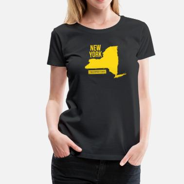 New York State Map New York State - Women's Premium T-Shirt