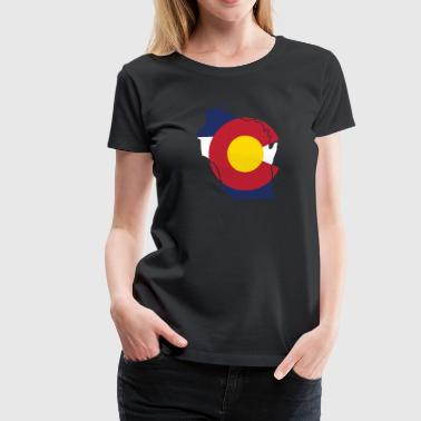Wisconsin Colorado Funny Pride Flag Apparel - Women's Premium T-Shirt