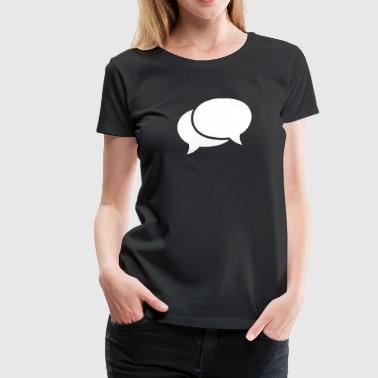 speech bubbles - Women's Premium T-Shirt