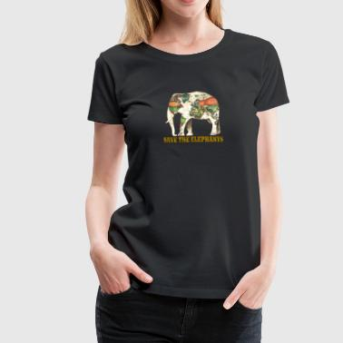 Save The Elephants Save The Elephants World Map - Women's Premium T-Shirt