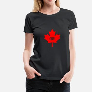 Canadian Army Solid Canadian Crew - Women's Premium T-Shirt