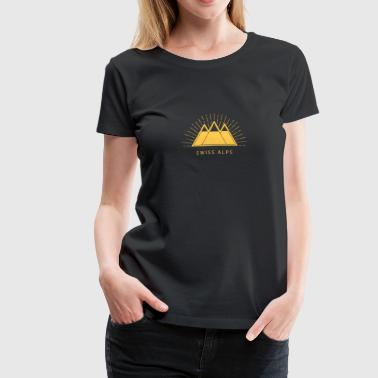 Mountains, Swiss Alps, Ski, Climbing, Switzerland - Women's Premium T-Shirt