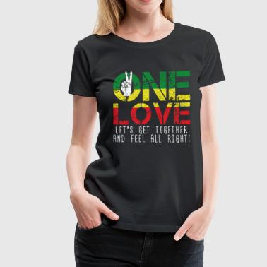 Flag Dub One love - Peace Reggae Music Rasta Jamaica Gift - Women's Premium T-Shirt