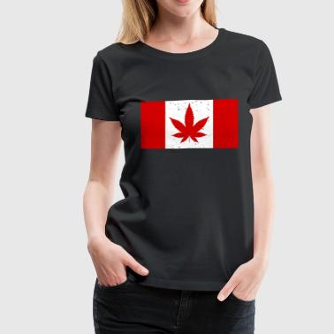Weed-leaf Canada Weed Flag - Women's Premium T-Shirt