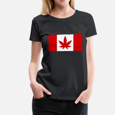 Cool Weed Canada Weed Flag - Women's Premium T-Shirt