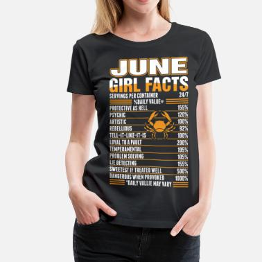 1990 June Girl Facts Cancer - Women's Premium T-Shirt