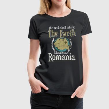 The meek inherit the earth the brave Romania - Women's Premium T-Shirt