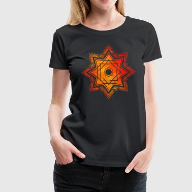 Watercolor Star of Lakshmi - Ashthalakshmi  - Women's Premium T-Shirt