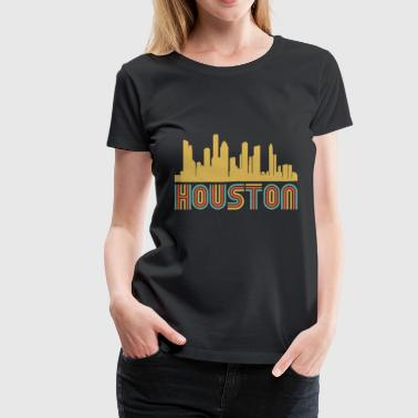 Vintage Style Houston Texas Skyline - Women's Premium T-Shirt