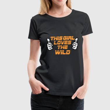 NFL This Girl Loves The WILD - Women's Premium T-Shirt