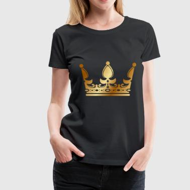 Rap Draw golden crown the king of rap drawing graphic arts - Women's Premium T-Shirt