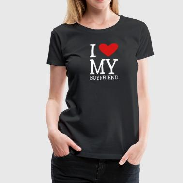 I Heart My Boyfriend - Women's Premium T-Shirt