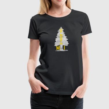 Michigan Up North Vintage Up North Michigan Distressed Tree - Women's Premium T-Shirt