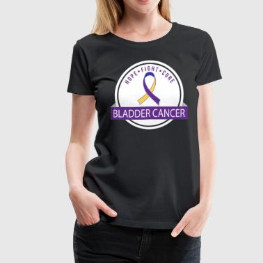 Bladder Cancer Ribbon Hope Fight Cure - Women's Premium T-Shirt