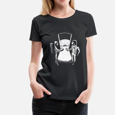 Space WHO'S THE FIRST? - Women's Premium T-Shirt