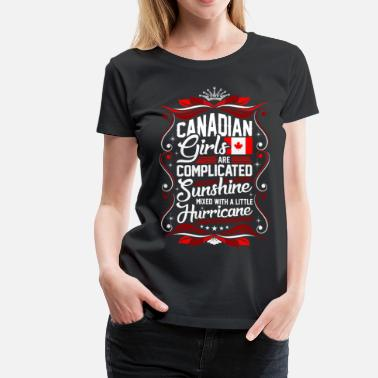 Canadian Souvenir Canadian Girls Are Completed Sunshine - Women's Premium T-Shirt