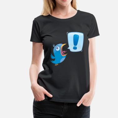 Scream And Shout Shouting Bluebird - Women's Premium T-Shirt