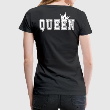 Valentine's Matching Couples Queen Crown - Women's Premium T-Shirt