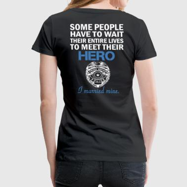 police officer'S WIFE - Women's Premium T-Shirt