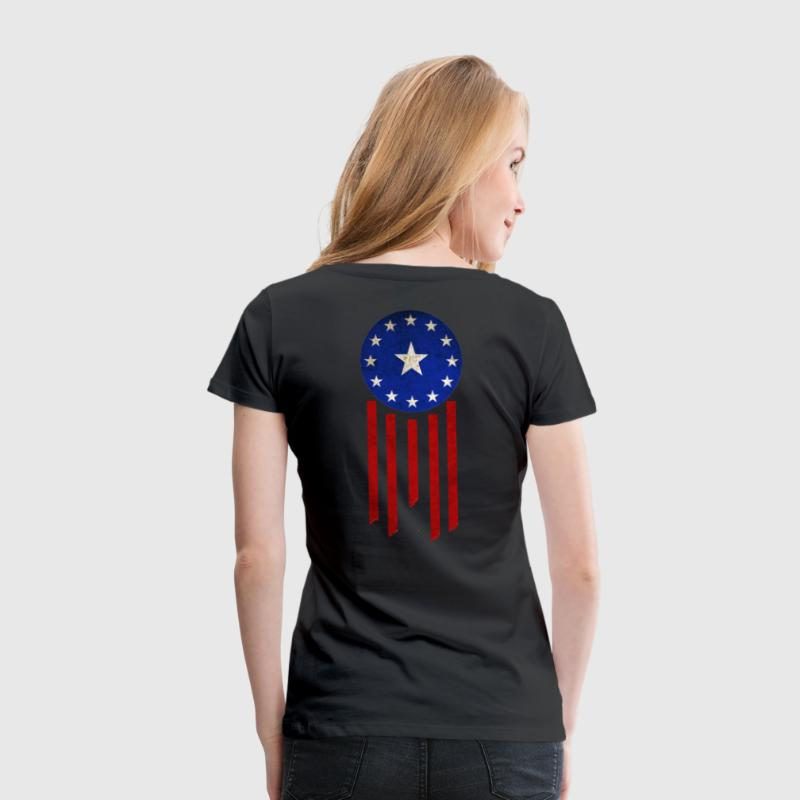 Old World Flag - Courier Six - Women's Premium T-Shirt