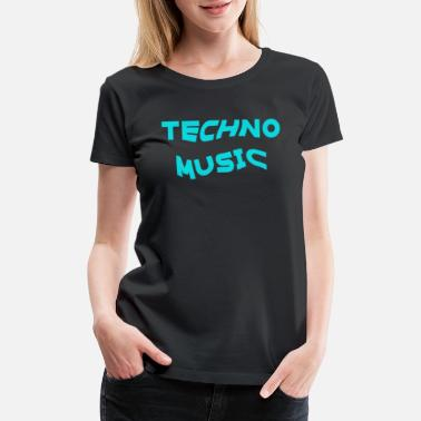 Music Techno Music Rave Music Electronic Dance heartbeat - Women's Premium T-Shirt