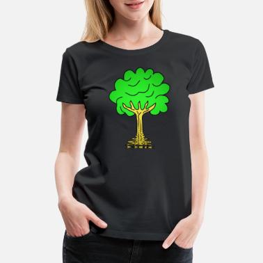 Conifer Beautiful nature. Tree for environment and forest - Women's Premium T-Shirt