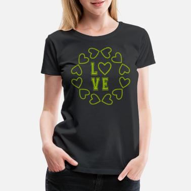Heartbreaker Beautiful LOVE heart circle for lovers - Women's Premium T-Shirt