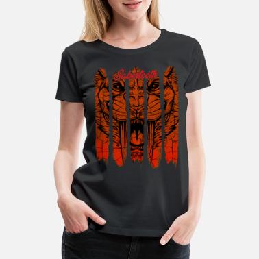 Extinction Vintage Retro Style Sabertooth Big Cat Wildlife - Women's Premium T-Shirt