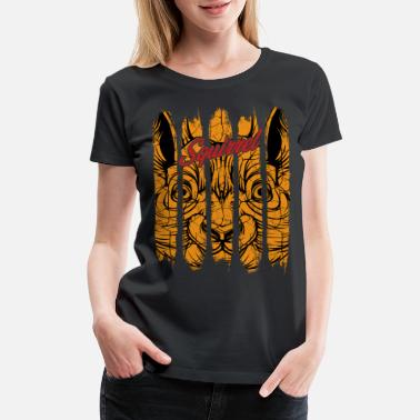Vintage Retro Style Squirrel Head Cool Gnawer Gift - Women's Premium T-Shirt