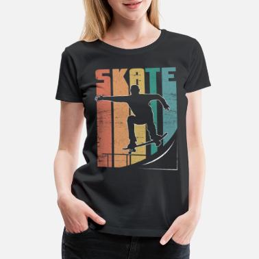 Grind Skateboard Pipe Sun Crew Ollie Cool Road - Women's Premium T-Shirt