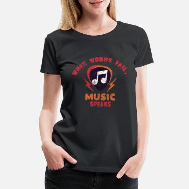 Headphone Music Musicians Headphones Gift Idea - Women's Premium T-Shirt