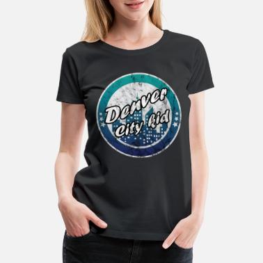 Outline Sport Denver city kid worn look - Women's Premium T-Shirt