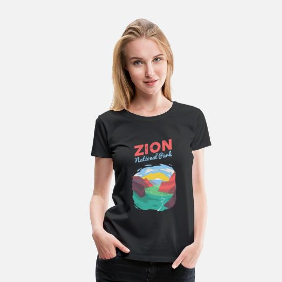 National Park T-Shirts - Zion National Park Gift - Women's Premium T-Shirt black