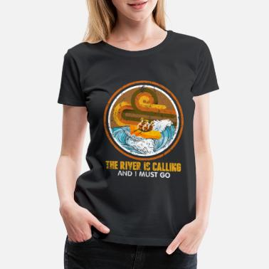 Row Rafting - Women's Premium T-Shirt