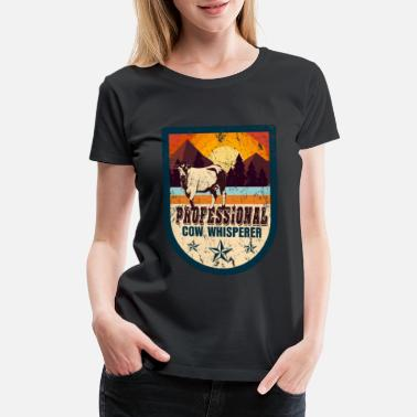 Steer Cow farm animal gift - Women's Premium T-Shirt