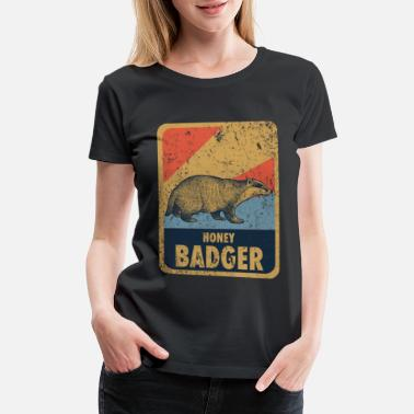 Aggressive badger forest honey - Women's Premium T-Shirt