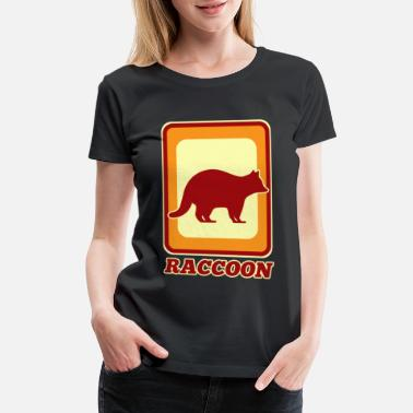 Wilderness Raccoon - Women's Premium T-Shirt