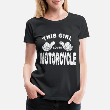 Motorcycle Racing Motorcycle Biker girl woman - Women's Premium T-Shirt