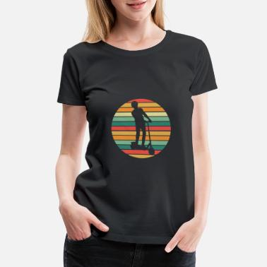 Batteries Electric scooter retro - Women's Premium T-Shirt