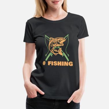 Right Hook Fishing weekend fish hobby gift - Women's Premium T-Shirt