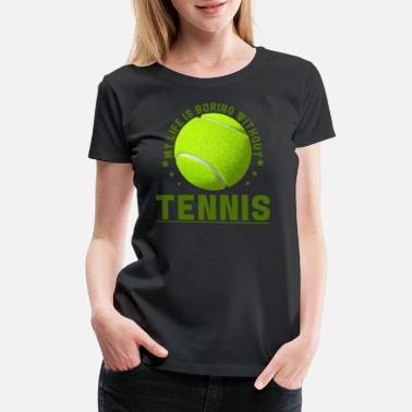 Grand Slam Wimbledon Tennis player tennis ball tennis racket sport gift - Women's Premium T-Shirt