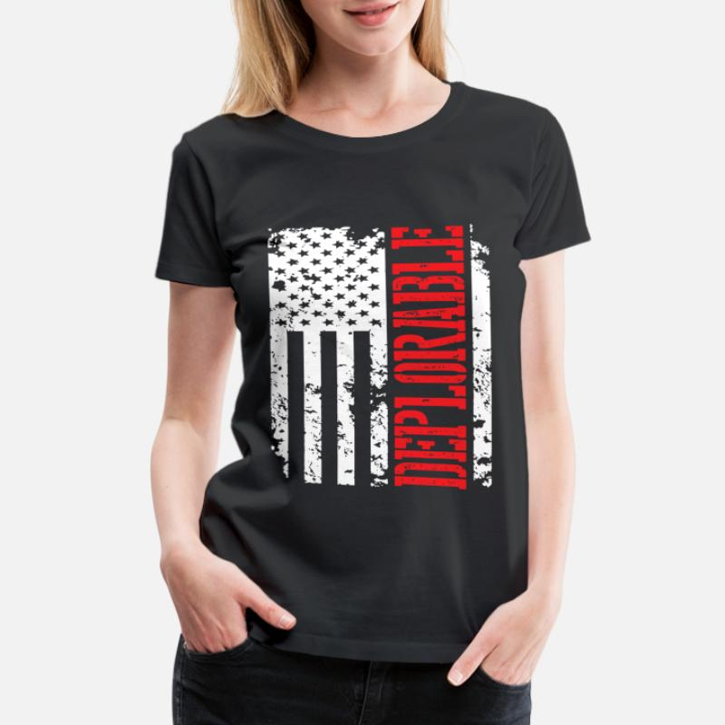 Deplorable 2016 US Flag TShirt Trump American Mens Gray Sweatshirt