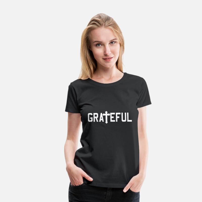 grateful religious jesus cross christian women s premium t shirt