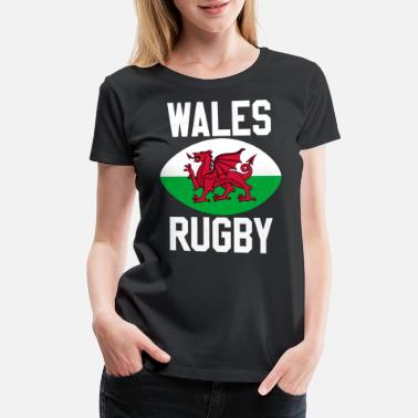 Wales Rugby Rugby Wales - Women's Premium T-Shirt