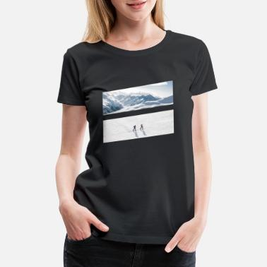 Powder Snow Ski tour - Women's Premium T-Shirt
