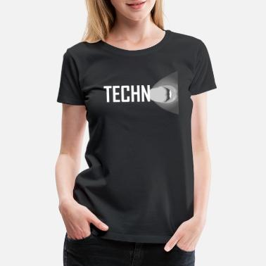 Lick Tongue Hot Girl licks Techno Rave Music EDM Tongue Shirt - Women's Premium T-Shirt