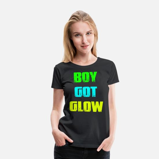 Xxx Birthday Gift T-shirts T-Shirts - Boy Got Glow Party Shirt Neon 80 s Party Birthday - Women's Premium T-Shirt black