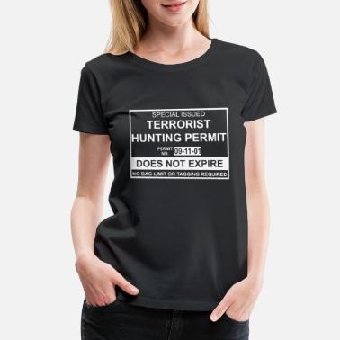 Isis Terrorist Hunting Permit Funny Mens Soft Anti Isis - Women's Premium T-Shirt